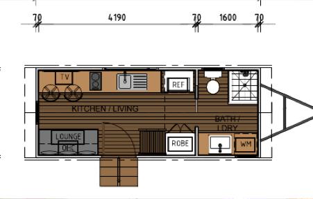 Jade floorplan Design - Tropical Tiny Homes